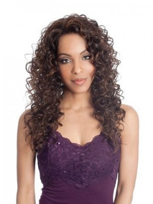 Long Spiral Curl Synthetic Lace Wig For Woman
