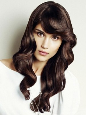 Romantic Lace Front Wavy Synthetic Wig For Woman