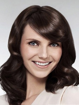 Attractive Lace Front Heat Friendly Synthetic Wig For Woman