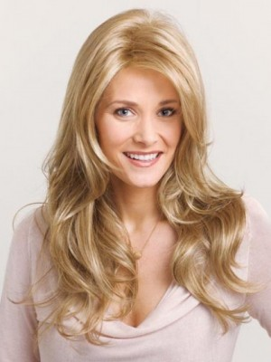 Long Wavy Synthetic Charming Lace Front Wig For Woman