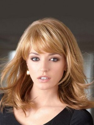 Modern Synthetic Layers Lace Front Wig For Woman