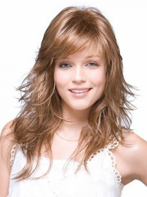 Charming Synthetic Long Wave Lace Wig For Woman