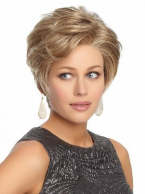 Short Cute Lace Front Synthetic Wavy Wig For Woman