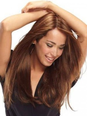 Charming Long Straight Full Lace Wig For Woman