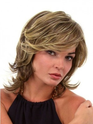 Stunning Synthetic Front Lace Wavy Wig For Woman