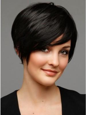 Short Black Human Hair Wig For Woman
