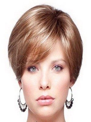 Full Lace Short Straight Human Hair Wig For Woman