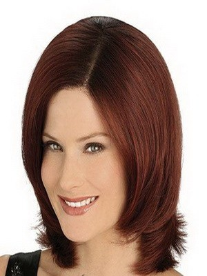 Full Lace Straight Medium Human Hair Wig For Woman