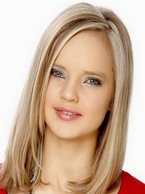Lace Front Straight Medium 100% Human Hair Wig For Woman