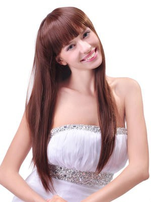Sweet Straight Remy Human Hair Long Wig