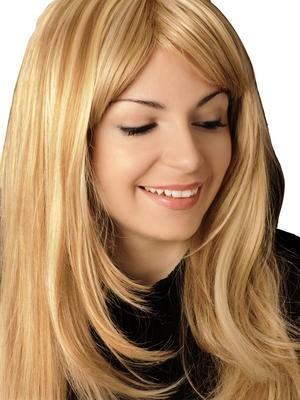 Feathered Straight Synthetic Long Lace Front Wig
