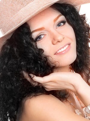 Graceful Lace Front Curly Synthetic Wig