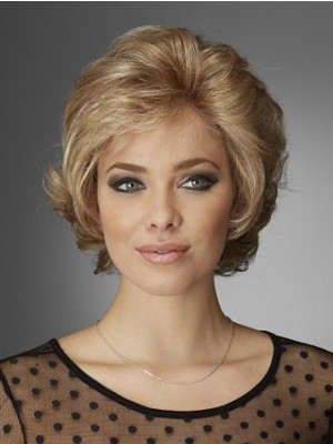 Fashionable Lace Front Wavy Short Human Hair Wig