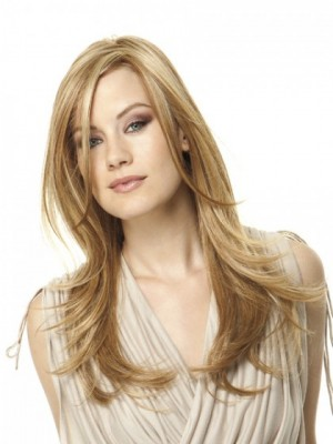 Charming Long Straight Lace Human Hair Wig