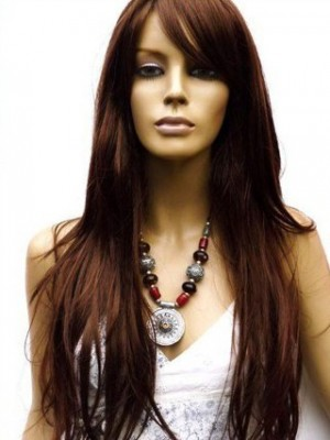 Natural Straight Remy Human Hair Lace Wig For Woman
