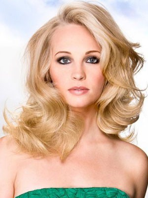 Elegant Human Hair Wavy Lace Front Wig