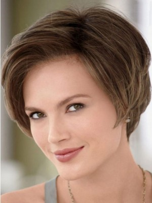 Lace Front with Mono Top Bob Style Human Hair Wig For Woman