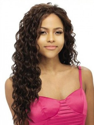 Water Wave Remy Human Hair Lace Front Wig For Woman