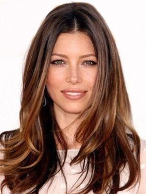 Elegant Lace Front Human Hair Straight Wig