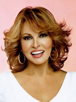 Medium Wavy Remy Human Hair Full Lace Wig For Woman