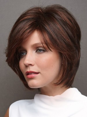 Seductive Straight Human Hair Lace Front Wig