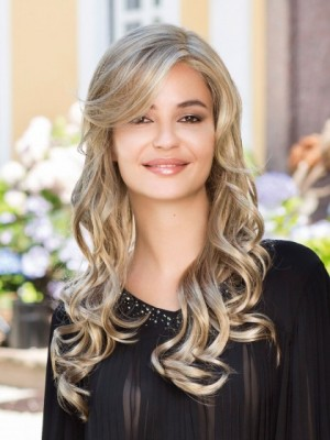 Glamorous Lace Front Wavy Long Synthetic Wig