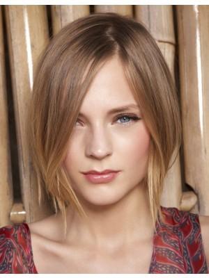 Elaborately Lace Front Synthetic Straight Wig