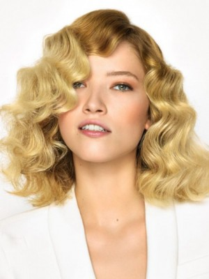 Marvelous Lace Front Wavy Human Hair Wig