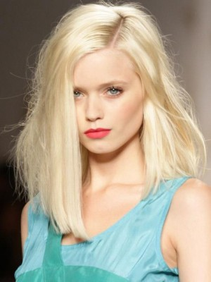 Elegant Straight Lace Front Synthetic Wig