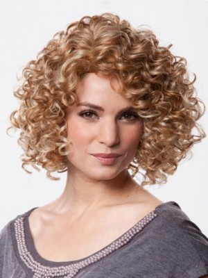 Comfortable Curly Synthetic Lace Front Wig