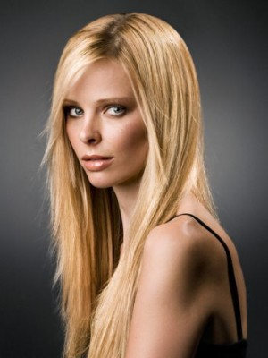 Elaborately Straight Human Hair Lace Front Wig