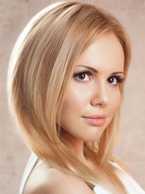 Concise Human Hair Straight Lace Front Wig