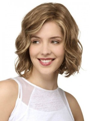 New Style Human Hair Lace Front Wavy Wig