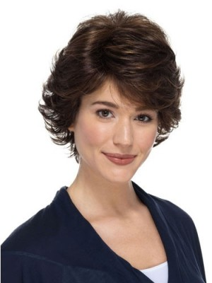 Fashionable Human Hair Lace Front Wavy Wig