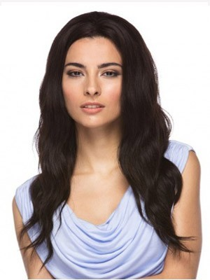 Stylish Lace Front Remy Human Hair Wavy Wig