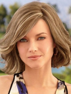 Classic Lace Front Remy Human Hair Wavy Wig