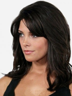 Pretty Lace Front Synthetic Wavy Wig