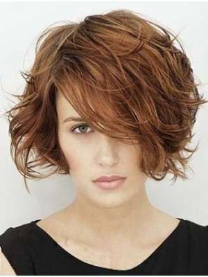 Natural Lace Front Remy Human Hair Wavy Wig