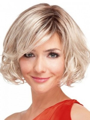 Wavy Clean Bob Full Lace Wig For Woman