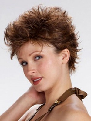Modern Short Wavy Full Lace Wig For Woman