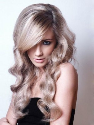 Elegant Wavy Synthetic Lace Front with Mono Wig For Woman