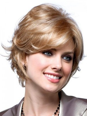 Charming Feathered Edges Lace Front with Mono Wig For Woman