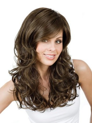 Wavy Lace Front with Mono Gisela Mayer Wig For Woman