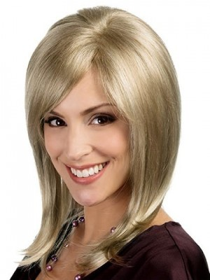 Soft Fringe Lace Front with Mono Wig For Woman