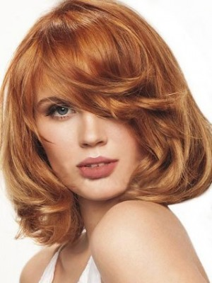 Bob Hairstyle Lovely Wavy Lace Wig For Woman