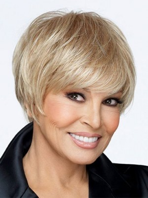 Monofilament Top Short Synthetic Wig For Woman