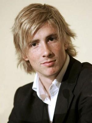 Short Blonde Wavy Remy Hair Mens Wig