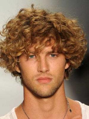 Short Wavy Human Hair Mens Wig