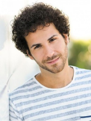 Lace Front Perfect Curly Short Men Wig