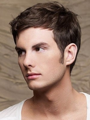 Short Full Lace Synthetic Mens Wig